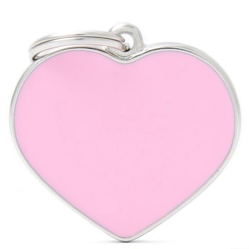 Placa Corazón Grande Rosa Handmade