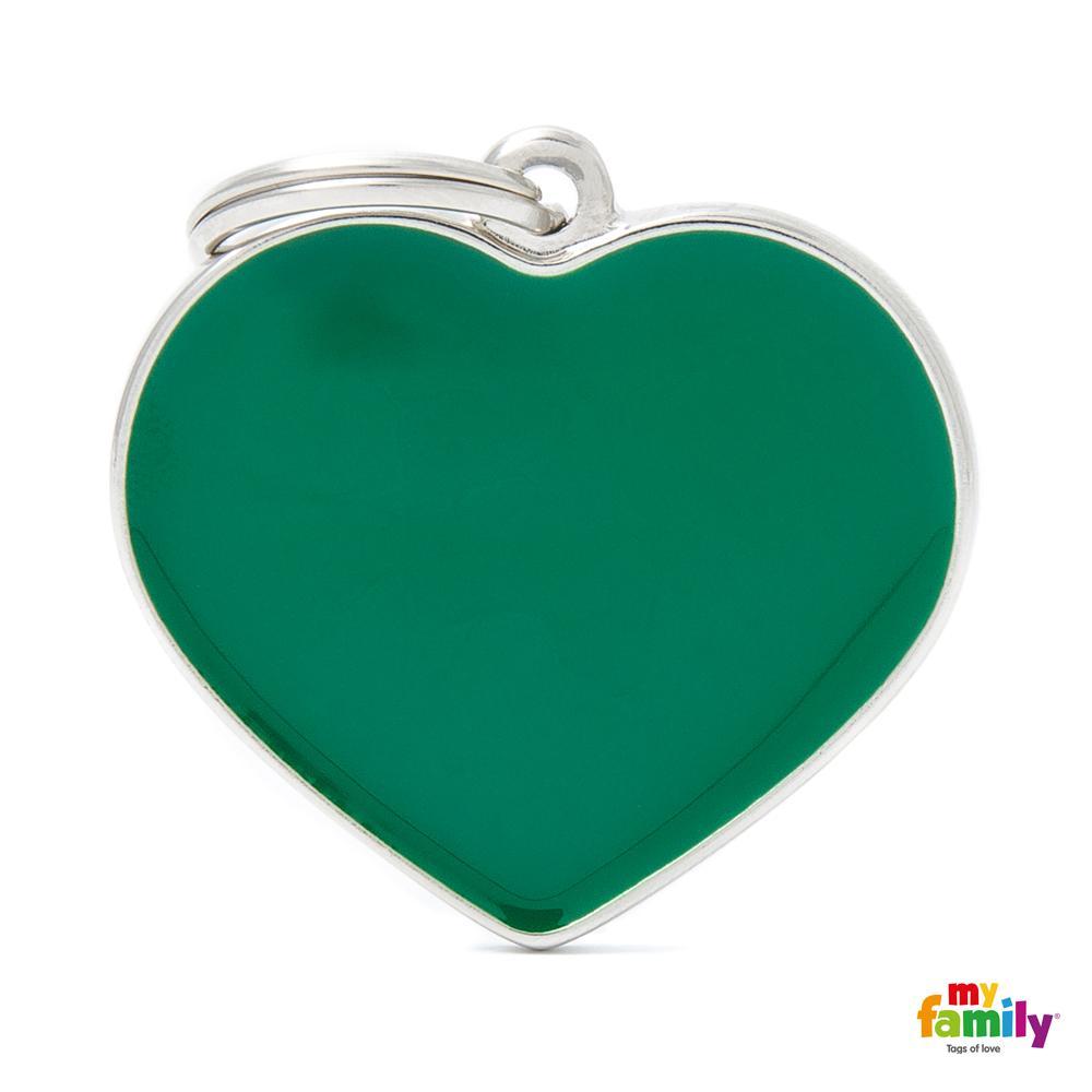 Placa Corazón Grande Verde Handmade