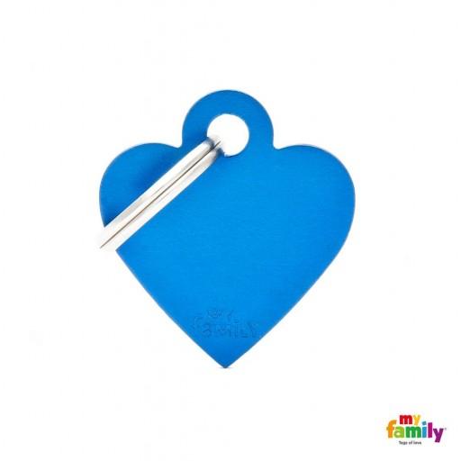 Placa Corazón Pequeño Aluminio Azul