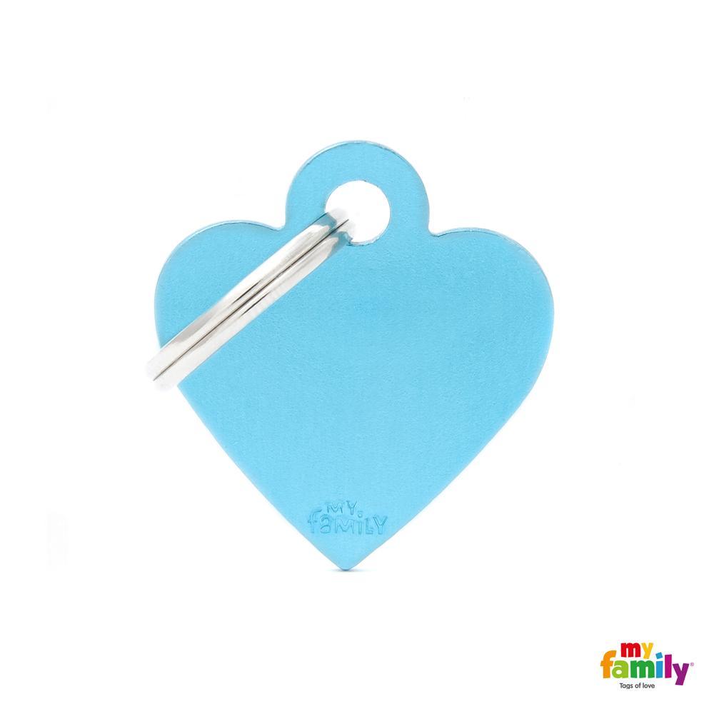 Placa Corazón Pequeño Aluminio Celeste