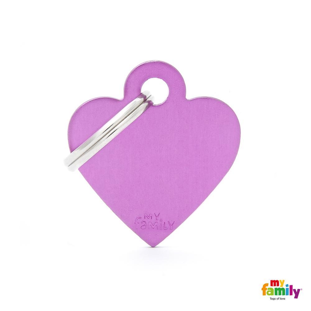 Placa Corazón Pequeño Aluminio Morado