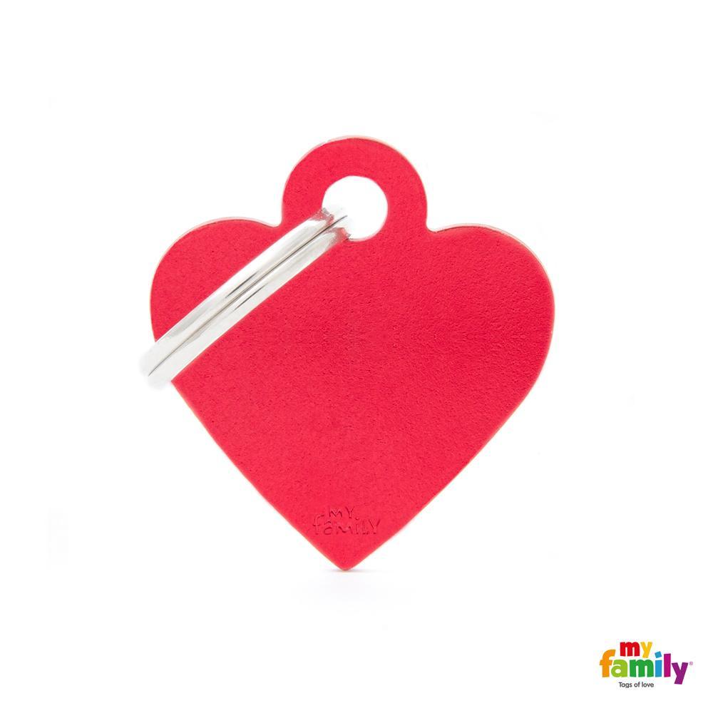 Placa Corazón Pequeño Aluminio Rojo