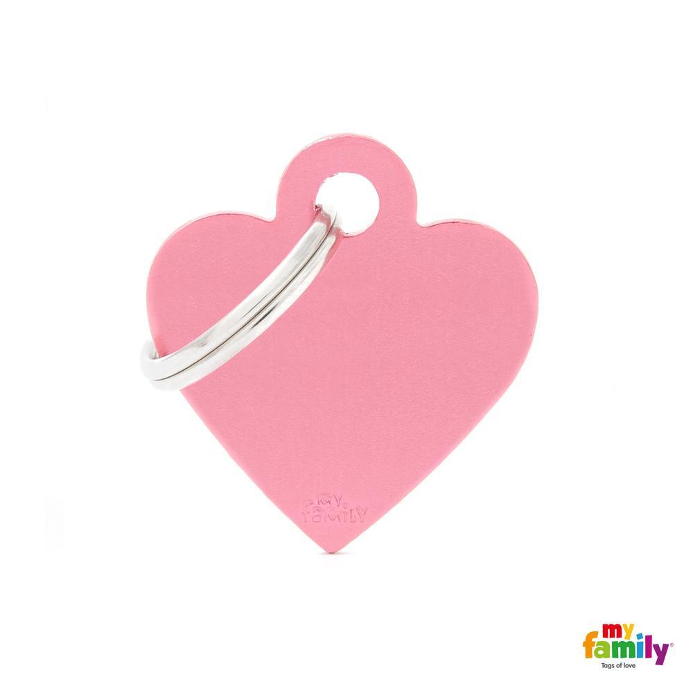 Placa Corazón Pequeño Aluminio Rosa