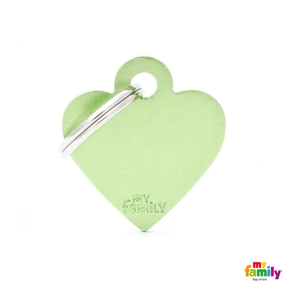 Placa Corazón Pequeño Aluminio Verde