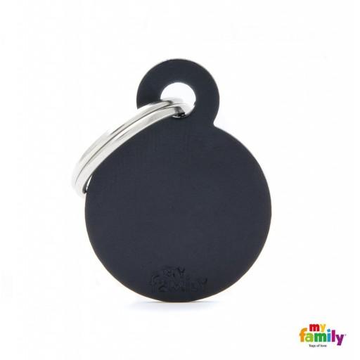 Placa Círculo Pequeño Aluminio Negro