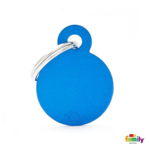 Placa Círculo Pequeño Aluminio Azul