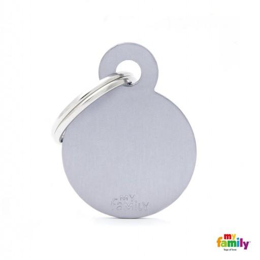 Placa Círculo Pequeño Aluminio Gris