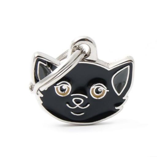 Placa Gato Europeo Negro