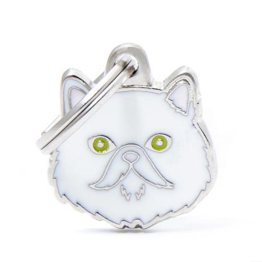 Placa Gato Persa Blanco