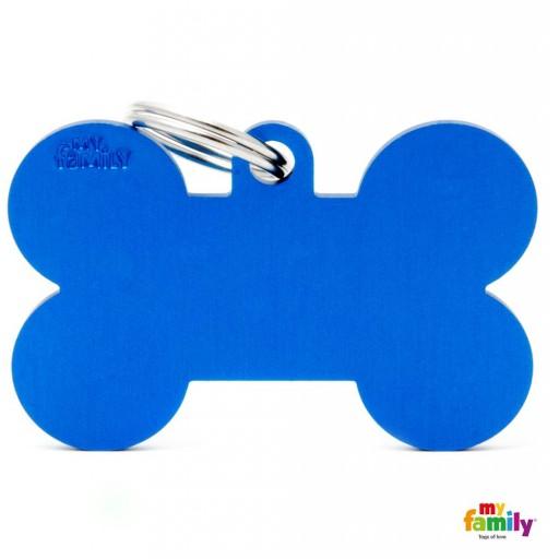 Placa Hueso Extra Grande Aluminio Azul