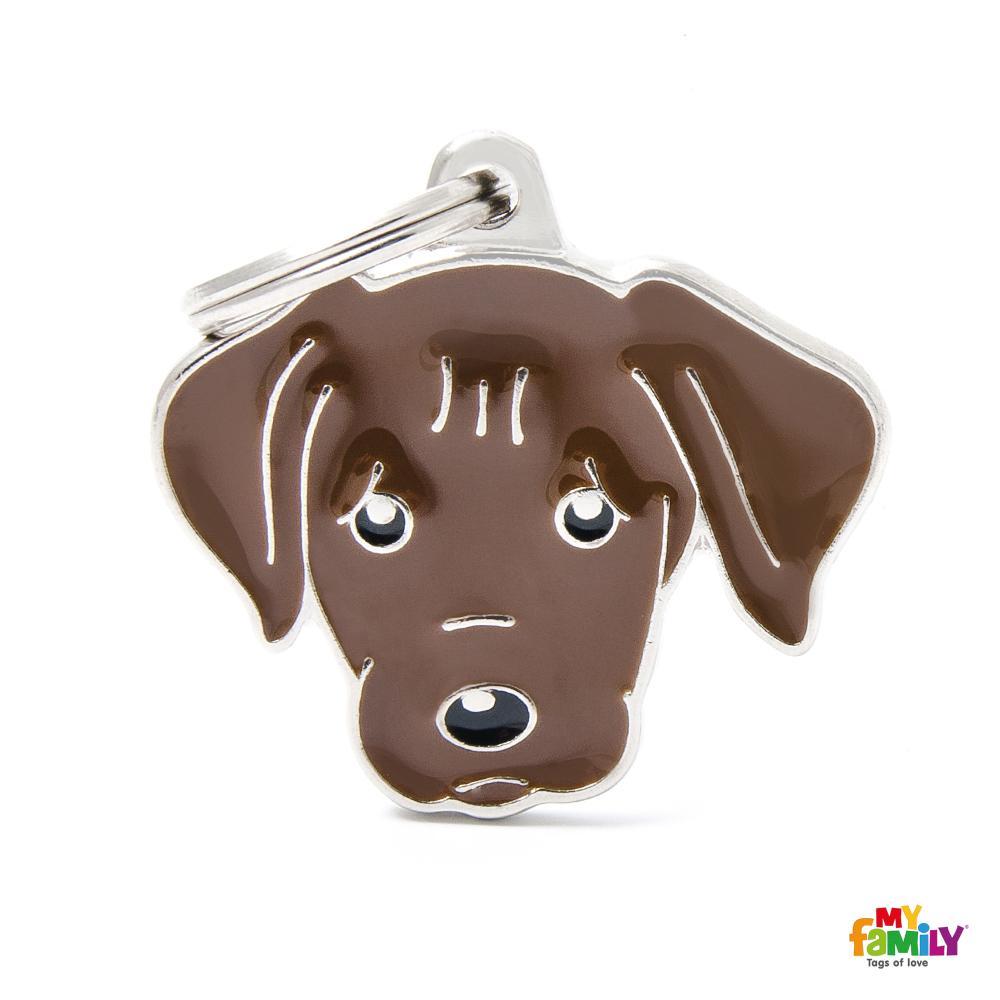 Placa Labrador Chocolate