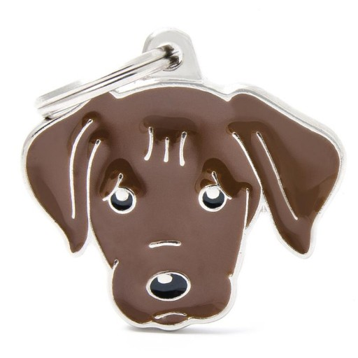 Placa Labrador Chocolate