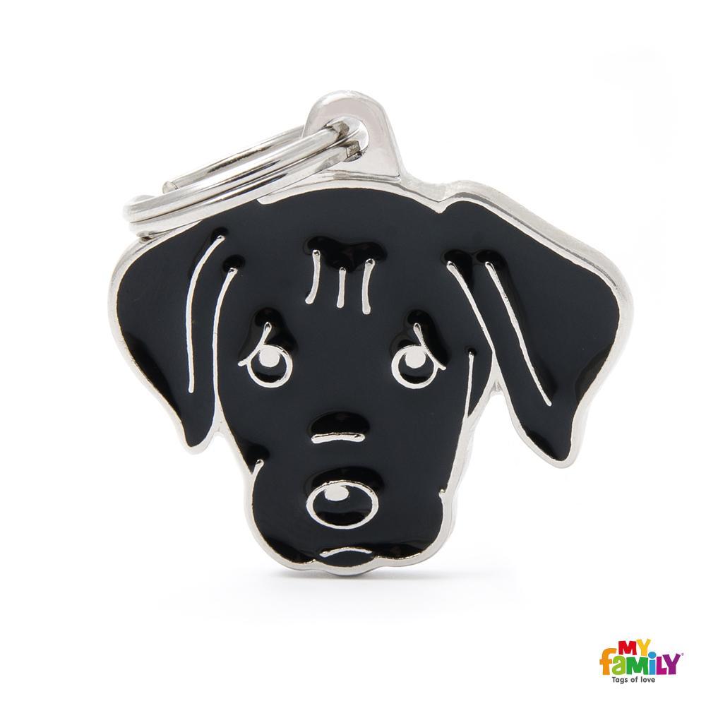 Placa Labrador Negro