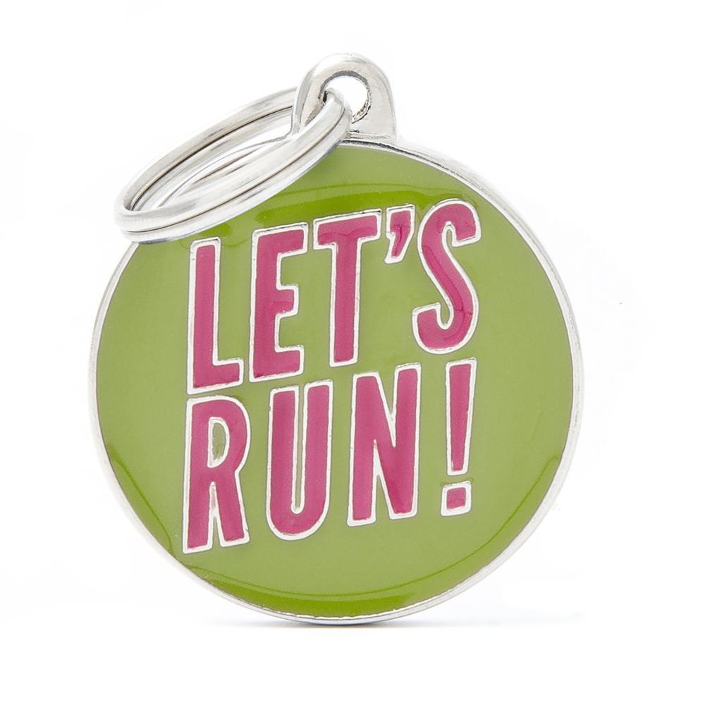 Placa Círculo Grande Let's Run!