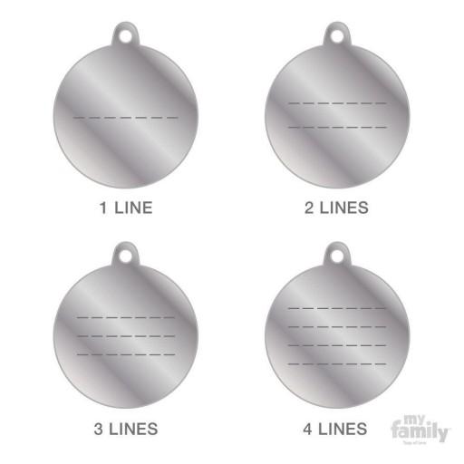 Placa Circulo Grande Aluminio Celeste [1]