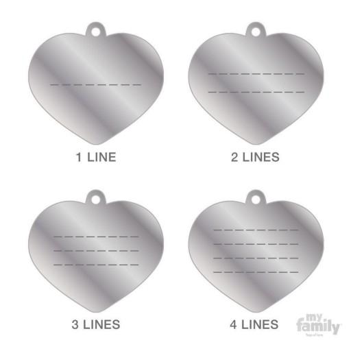 Placa Corazón Grande Aluminio Morado [1]