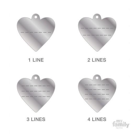 Placa Corazón Pequeño Aluminio Morado [2]