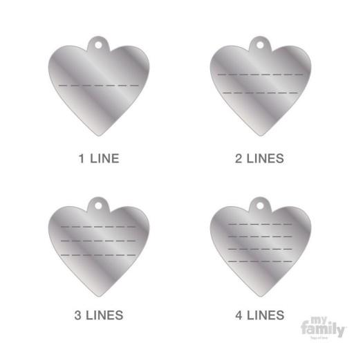 Placa Corazón Pequeño Aluminio Verde [2]