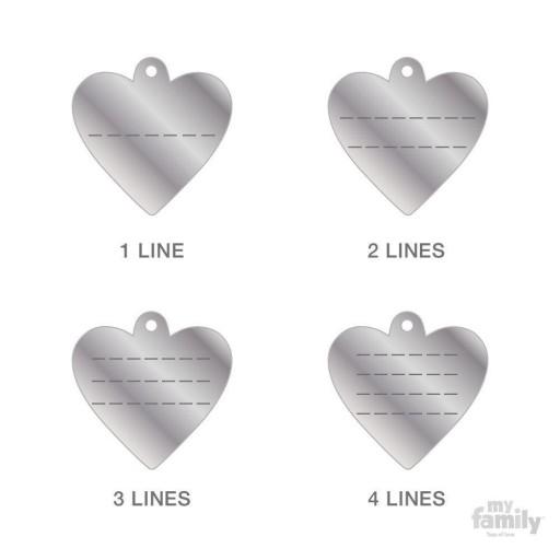 Placa Corazón Pequeño Latón Cromado [2]