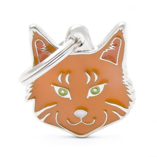 Placa Maine Coon Rojo