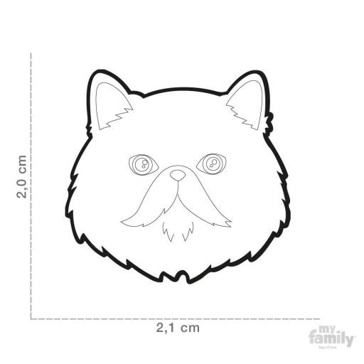 Placa Gato Persa Rojo [1]
