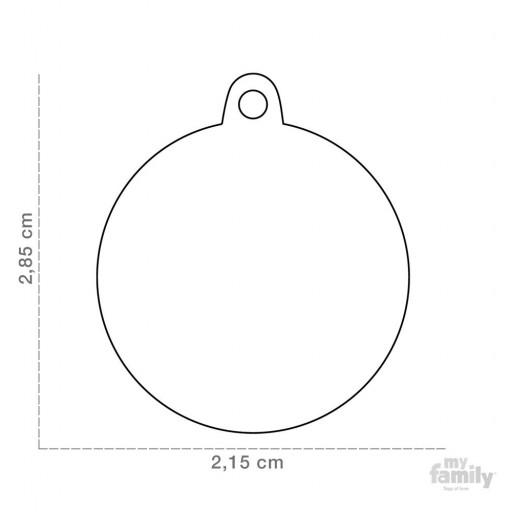 Placa Calavera Blanca Círculo con Brillantes [1]