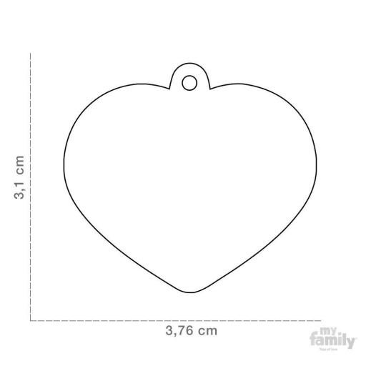 Placa Corazón Grande Aluminio Gris [1]