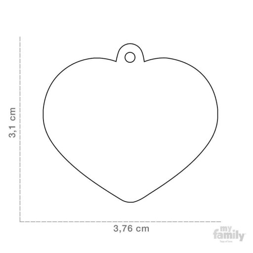Placa Corazón Grande Latón Cromado [1]