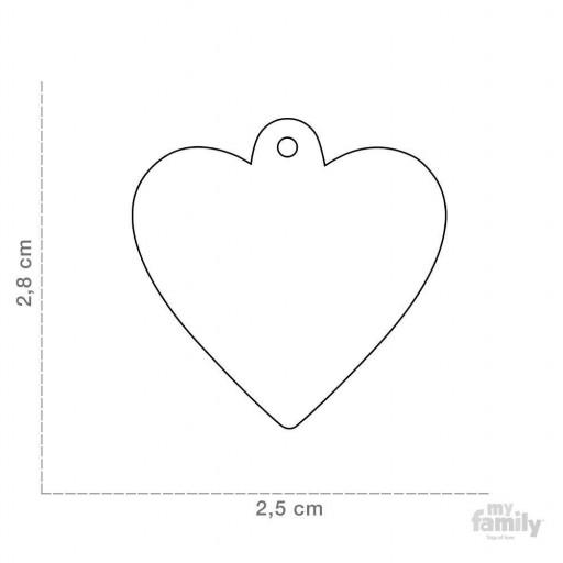 Placa Corazón Pequeño Aluminio Morado [1]