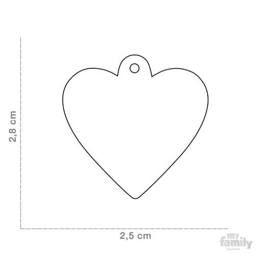 Placa Corazón Pequeño Aluminio Rojo [1]