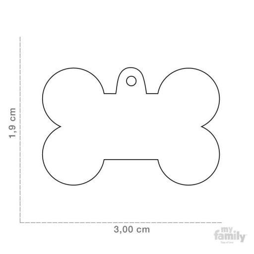 Placa Hueso Pequeño Aluminio Celeste [1]