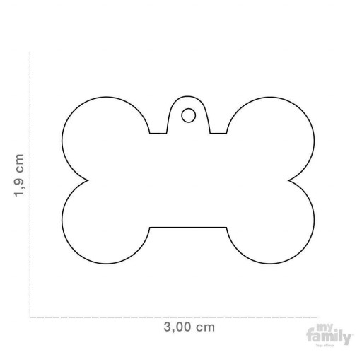 Placa Hueso Pequeño Aluminio Rosa [1]