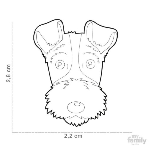 Placa Airedale Terrier [1]