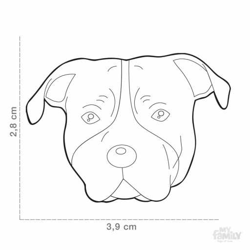 Placa American Staffordshire Terrier Negro [1]