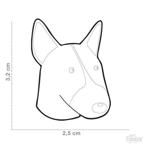 Placa Bull Terrier Blanco Marrón [1]