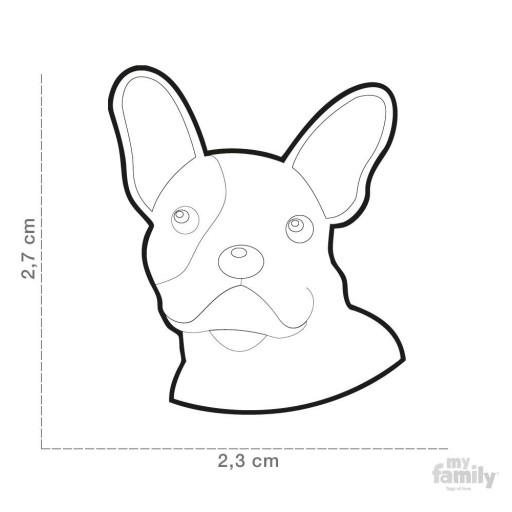 Placa Bulldog Frances Negro [1]