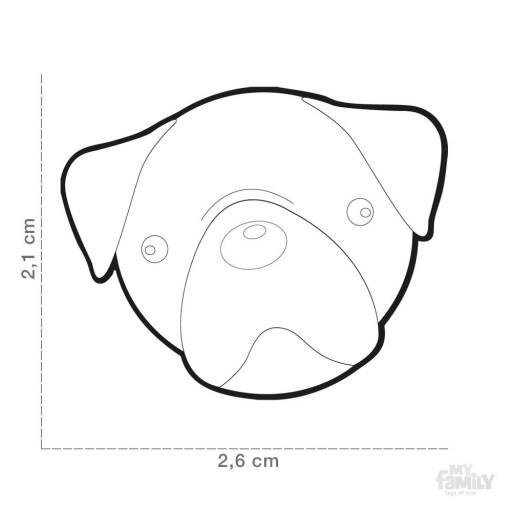 Placa Carlino Marrón Claro (Pug) [1]