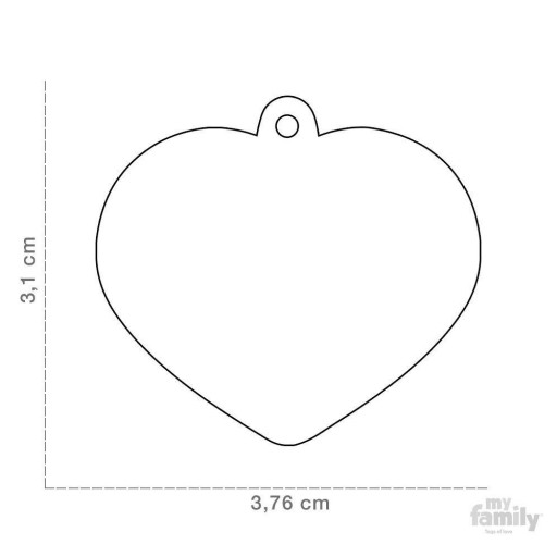 Placa Corazón Grande Plateado con Purpurina [1]