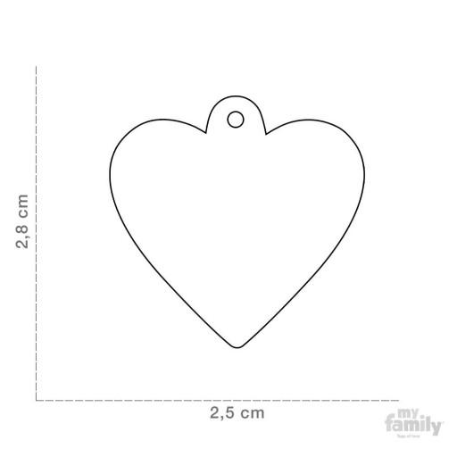 Placa Corazón Pequeño Azul con Purpurina [1]
