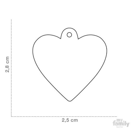 Placa Corazón Pequeño Negro con Purpurina [1]