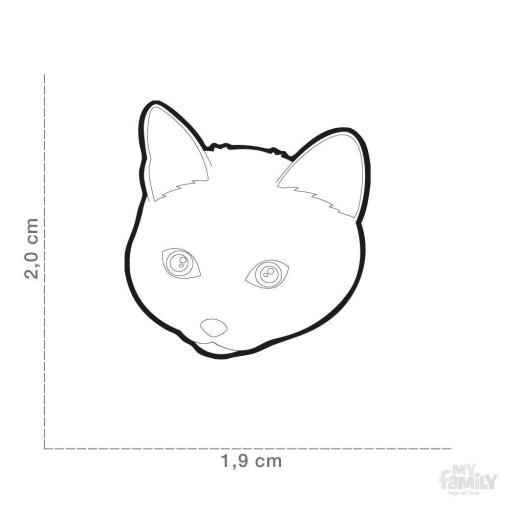 Placa Nuevo Gato Europeo Blanco [1]
