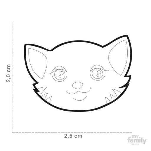 Placa Gato Europeo Rojo (Bob) [2]