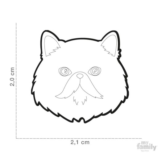 Placa Gato Persa Blanco [1]