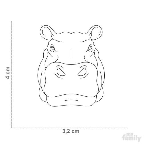 Placa Wild Hipopótamo [1]