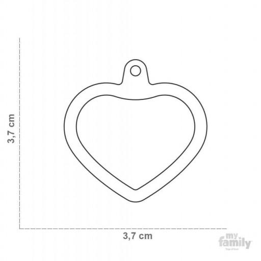 Placa Hushtag Corazón Aluminio Negro Goma Negro [1]