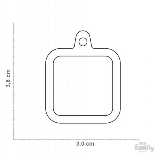 Placa Hushtag Cuadrado Aluminio Negro Goma Negro [1]