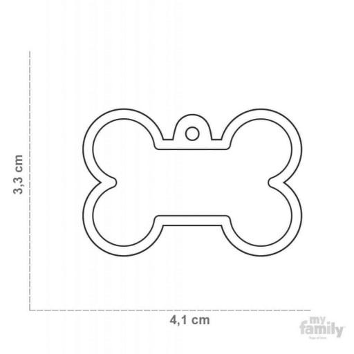 Placa Hushtag Hueso Aluminio Violeta Goma Violeta [1]