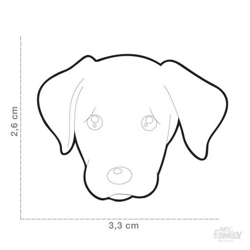 Placa Labrador Chocolate [1]