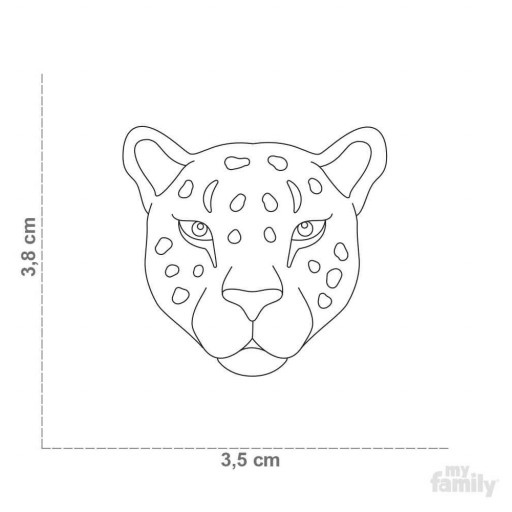 Placa Wild Leopardo [1]