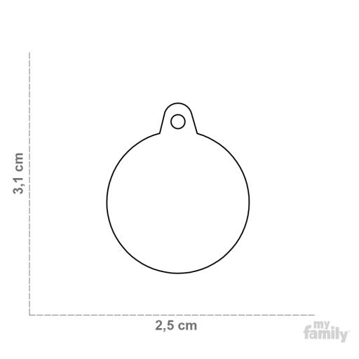Placa Círculo Mediana Billar [1]